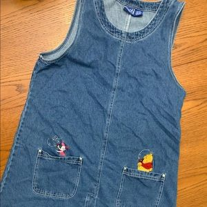 Disney Pooh Jean Dress size XL